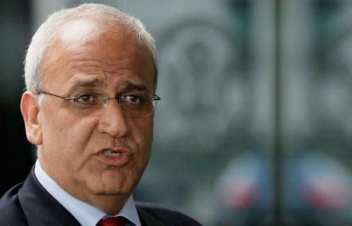 عريقات: غواتيمالا بنقل سفارتها إلى القدس تدعم انتهاكات إسرائيل للقانون الدولي