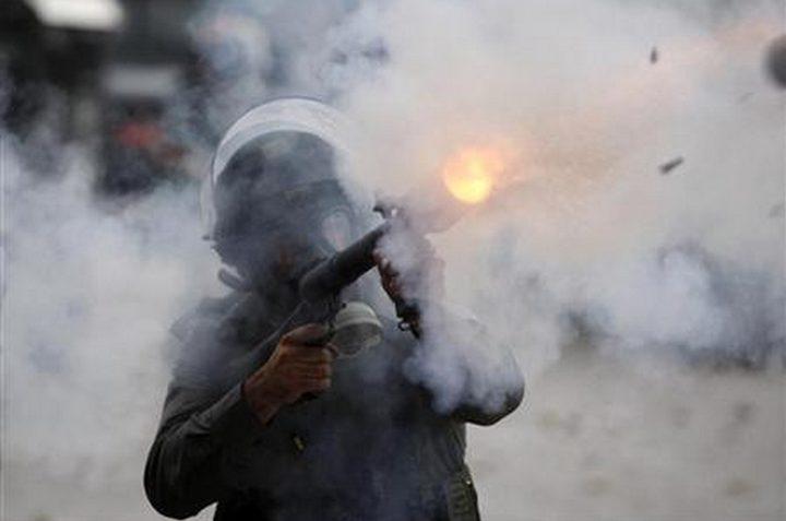 اصابات بالاختناق خلال مواجهات مع الاحتلال في بلدة بورين