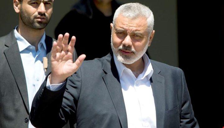 """صحيفة إسرائيلية تنشر """"تفاصيل"""" لقاء هنية بالمخابرات المصرية"""