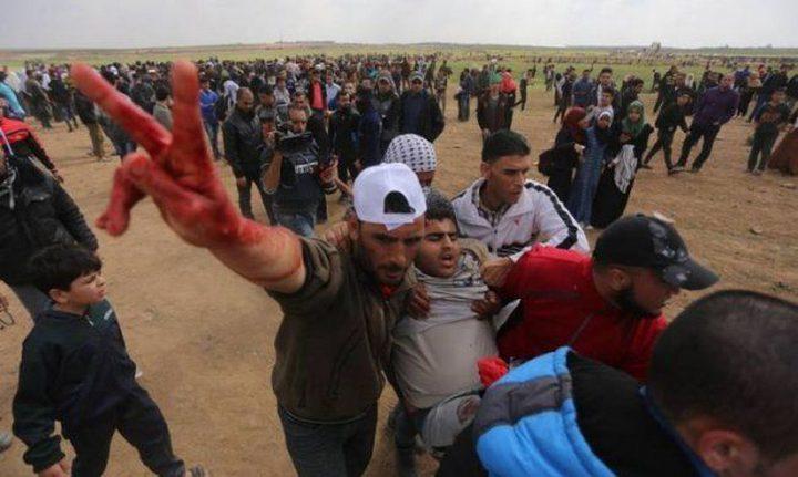 54 من جرحى مسيرات العودة بغزة في حالة موت سريري