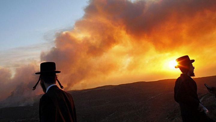 حرائق بحقول المستوطنين في محيط غزة