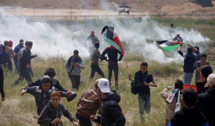 إطلاق نار على المتظاهرين في مخيمات العودة شرق غزة