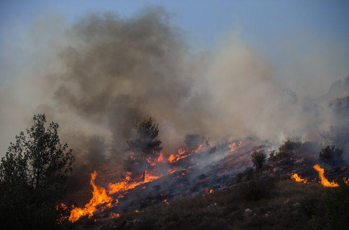 حرائق تجتاح الأراضي المحتلة بفعل الطائرات الورقية وارتفاع الحرارة