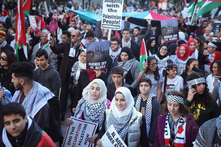 مظاهرات في مدن ايطالية تضامنا مع فلسطين