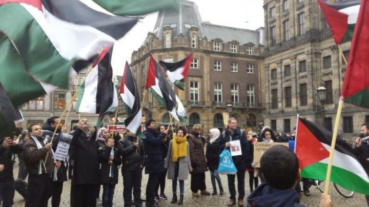 مظاهرة حاشدة في أمستردام دعماً للقدس
