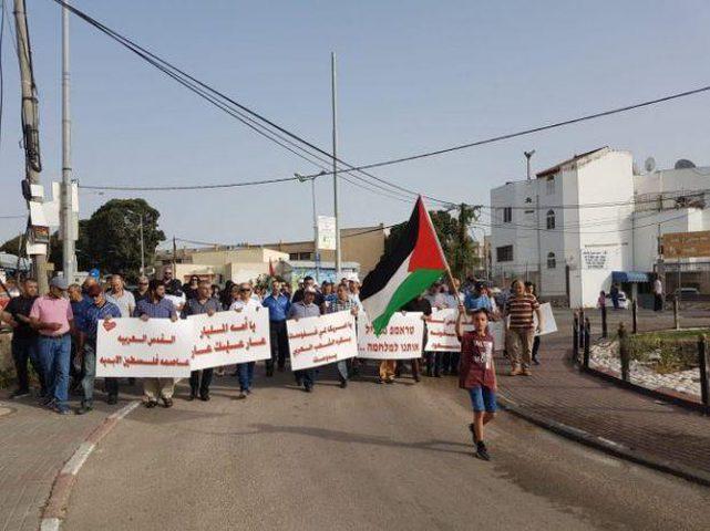 """مظاهرة في """"جديدة المكر"""" شرق عكا نصرة لغزة والقدس"""