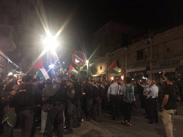 مظاهرة في حيفا بمشاركة أعضاء كنيست احتجاجا على اعتقال عدد من المتظاهرين