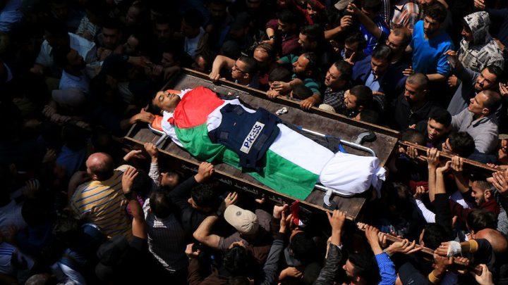 شهيدان و157 صحفيا أصيبوا خلال مسيرات العودة