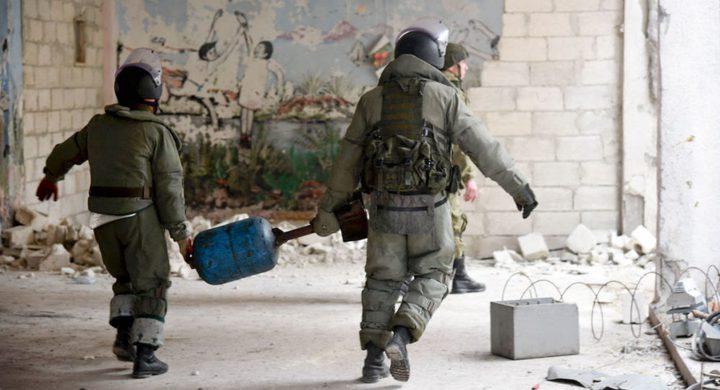 العثور على مخازن للمسلحين فيها أسلحة من دول الناتو في حمص