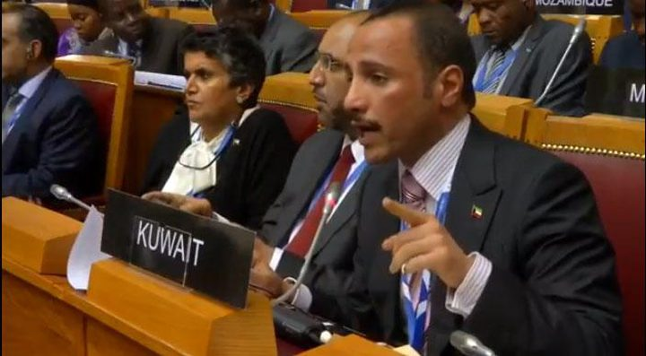 """رئيس مجلس الأمة الكويتي يبحث مع وفد """"قافلة الضمير"""" العالمية أوضاع نساء سوريا"""