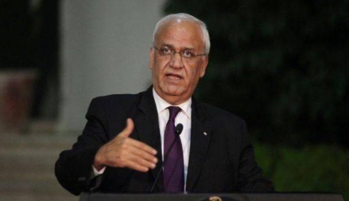 عريقات يطالب الجنائية الدولية بفتح تحقيق فوري ضد جرائم الاحتلال