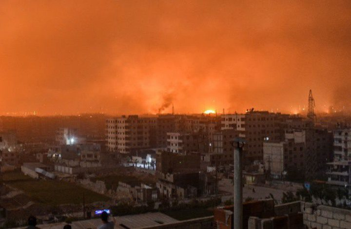 النظام السوري: غارة معادية على مطار عسكري بحمص