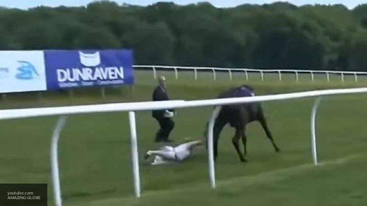 فتاة شجاعة تسيطر على حصان هائج! (فيديو)