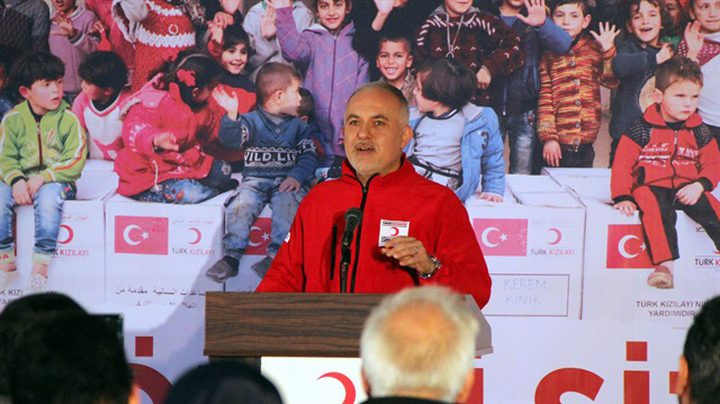 رئيس الهلال الأحمر التركي: مستمرون في دعم الشعب الفلسطيني