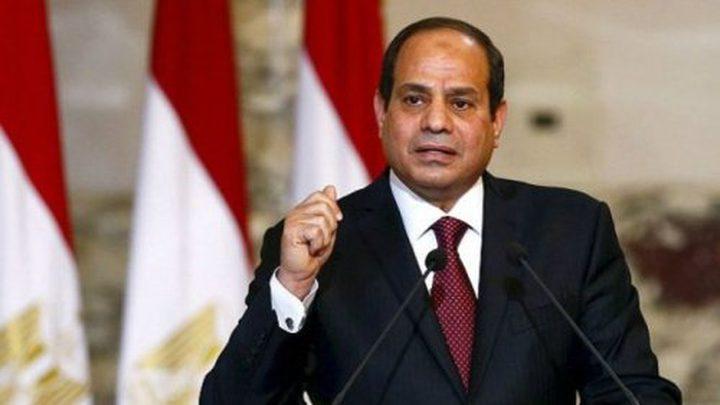 السيسي يؤكد لنائب الرئيس الأميركي موقف مصر الداعم للقضية الفلسطينية
