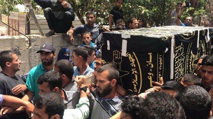 تشييع جثماني الشهيدين العمور والناقة في غزة
