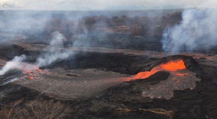 انفجارات بركانية في هاواي تقذف الرماد لارتفاع 11 ألف قدم