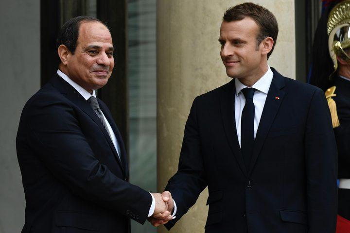 السيسي يؤكد لماكرون استمرار دعم مصر لجهود التسوية السياسية في ليبيا وسوريا