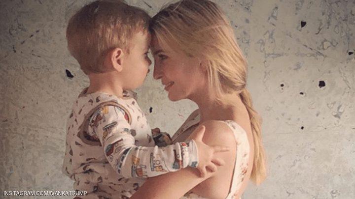 صورة ايفانكا مع ابنها تغضب الأمريكيين!
