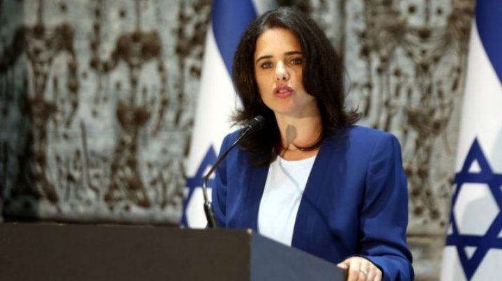 وزيرة إسرائيلية تدعو لاحتلال قطاع غزة