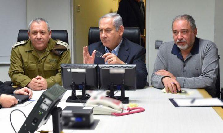 نتنياهو يعقد جلسة مشاورات أمنية مع قيادة قوات الإحتلال