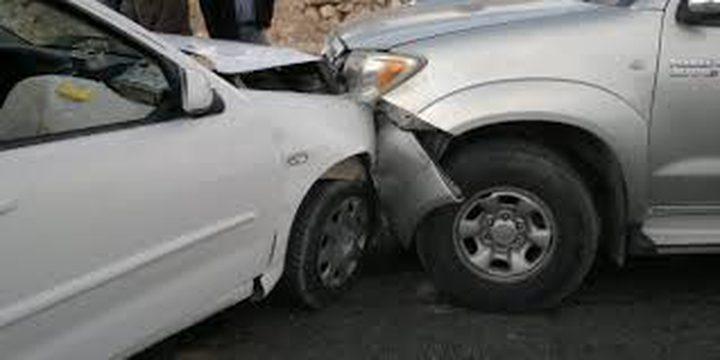 3 إصابات بحادث تصادم جنوب جنين