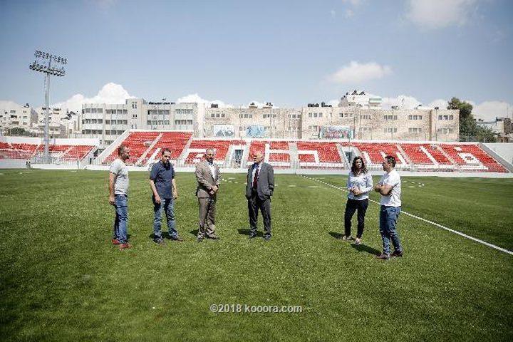 استاد الشهيد فيصل الحسيني يستضيف نهائي كأس فلسطين