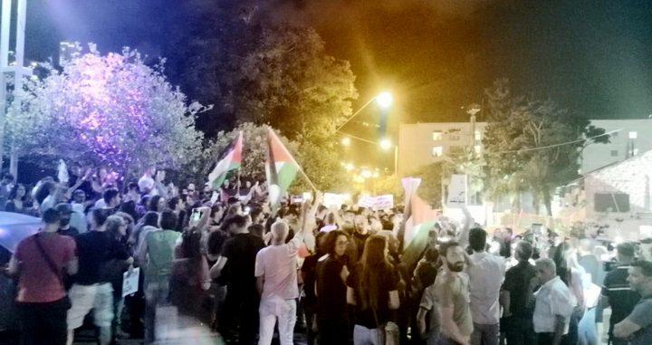 تظاهرة في حيفا دعماً لغزة