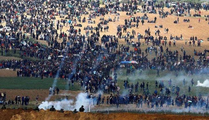 """شهيدة و100 اصابة برصاص قوات الاحتلال شرق القطاع في جمعة """"من غزة إلى حيفا"""""""