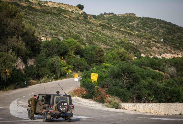 تحركات برية وجوية اسرائيلية على الحدود اللبنانية