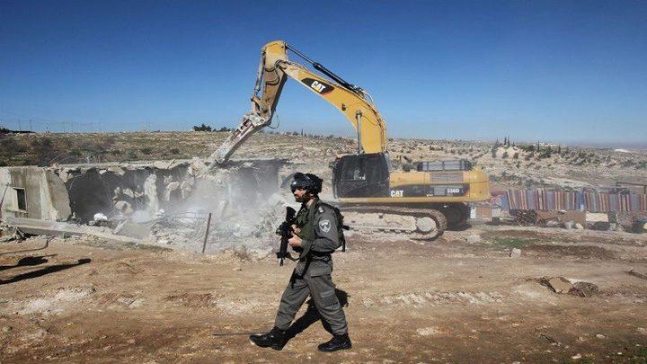 مؤسستان حقوقيتان تطالبان بإلغاء أمر عسكري يمهد لعمليات هدم في مناطق (ج)