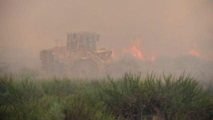 8 حرائق بمستوطنات غلاف غزة بالطائرات والبالونات الحارقة (فيديو)