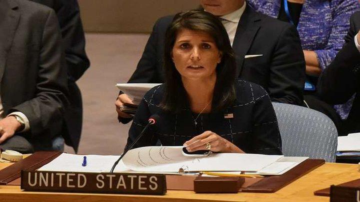 """هايلي تتهم الأمم المتحدة ومنظماتها بـ""""النفاق"""""""