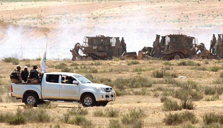 """""""معاريف"""": الإحتلال قلق بعد سحب حماس عناصر أمنها من منطقة السياج الفاصل"""