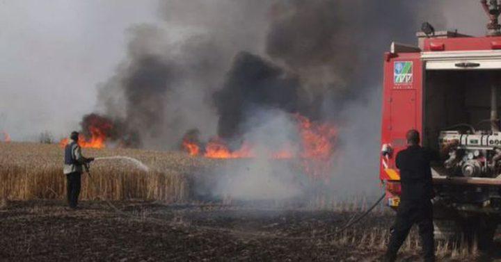 الحرائق تجتاح المستوطنات والاراضي المحتلة شرق غزة بفعل الطائرات والبالونات الحارقة