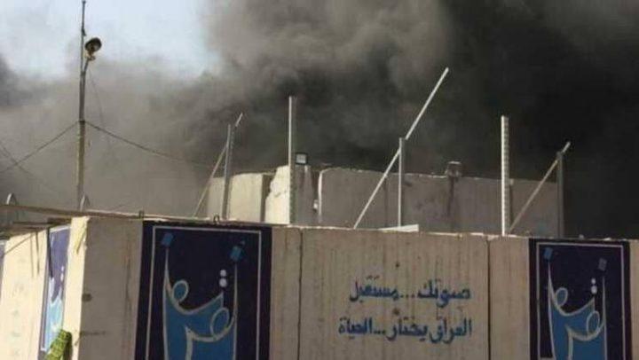 حريق يلتهم أكبر مخزن لصناديق الاقتراع قبل إعادة الفرز في بغداد