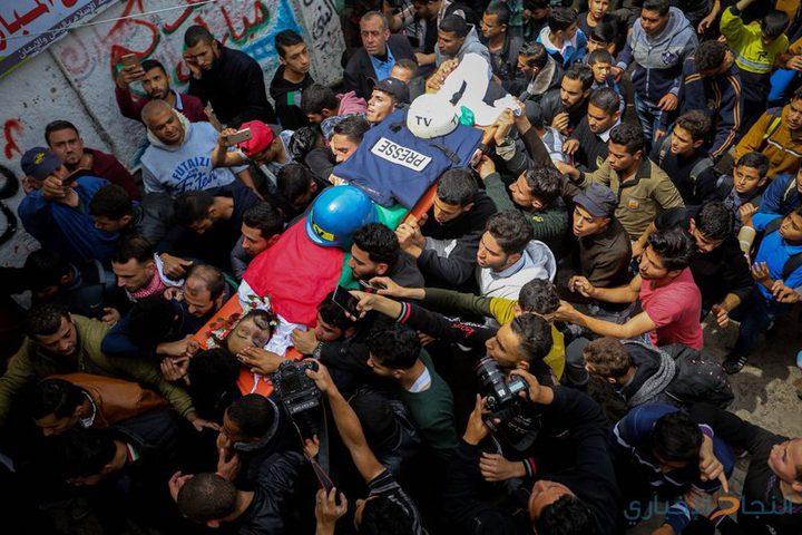 الميزان: الاحتلال قتل صحفيين وأصاب (198) آخرين خلال مسيرات العودة