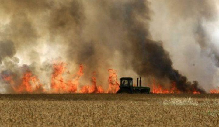 تواصل الحرائق في مستوطنات غلاف غزة بفعل الطائرات الورقية