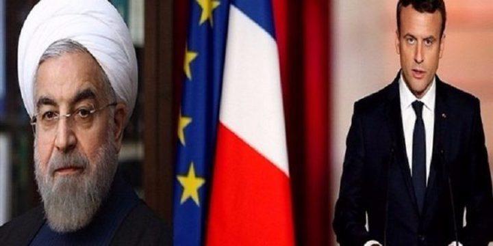 """ماكرون يحث روحاني على التزام إيران بالاتفاق النووي """"دون أي لبس"""""""