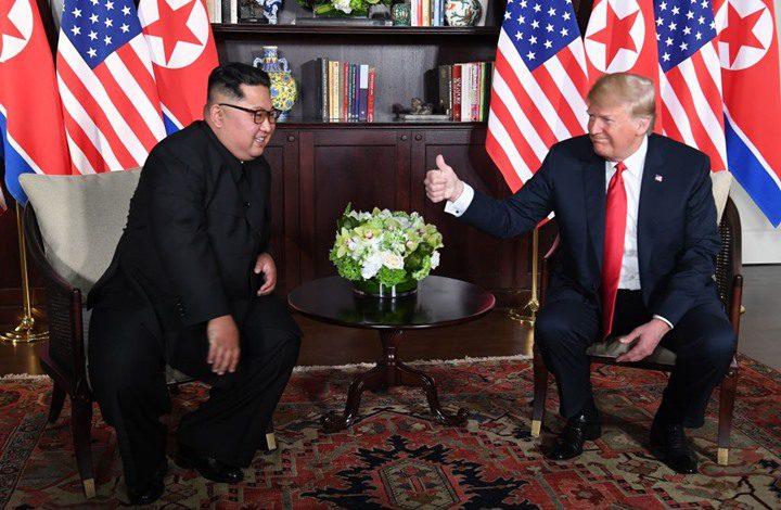 ترامب: القمة مع كيم أنهت الخطر النووي لكوريا الشمالية