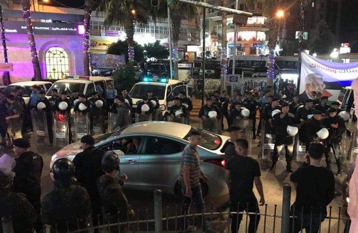 عناصر الأمن تنتشر في شوارع رام الله