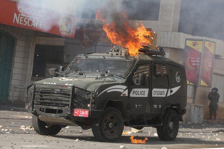 الاحتلال يزعم إلقاء زجاجة حارقة على جنوده عند حوارة