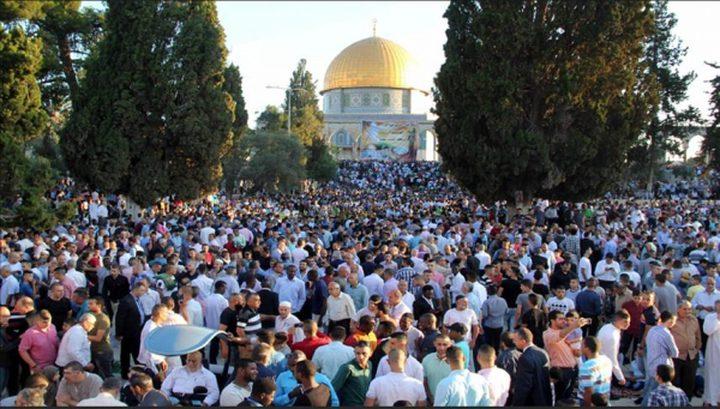 90 الفاً أدّوا صلاة العيد في المسجد الاقصى