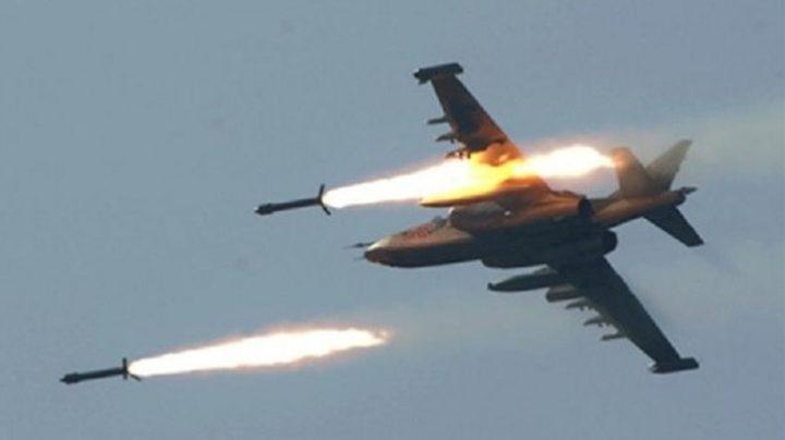 طائرات الاحتلال تطلق صاروخين شرق البريج