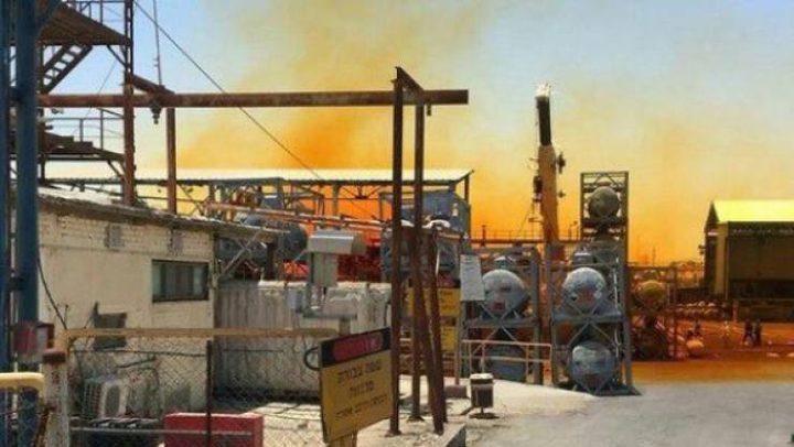 تسرب مادة كيميائية خطيرة من مصنع إسرائيلي