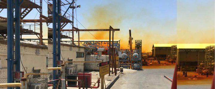 تسرب مادة خطرة في منطقة مصانع البحر الميت
