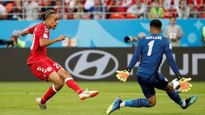 الدنمارك يفوز على بيرو بشق الأنفس في مونديال 2018