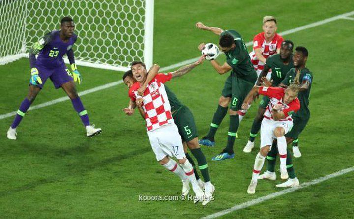 كرواتيا تفوز على نيجيريا بهدفين نظيفين