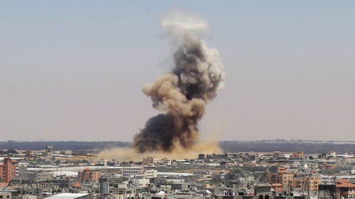 الاحتلال يقصف موقعا للمقاومة جنوب غزة