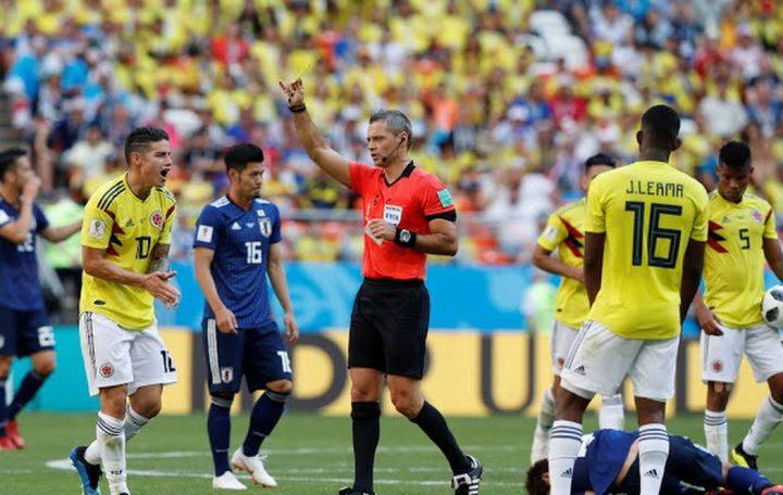 اليابان تفوز على كولومبيا بهدفين لهدف ضمن منافسات كأس العالم